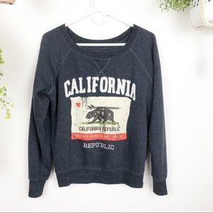 California Embroidered Graphic Sweatshirt Bear I